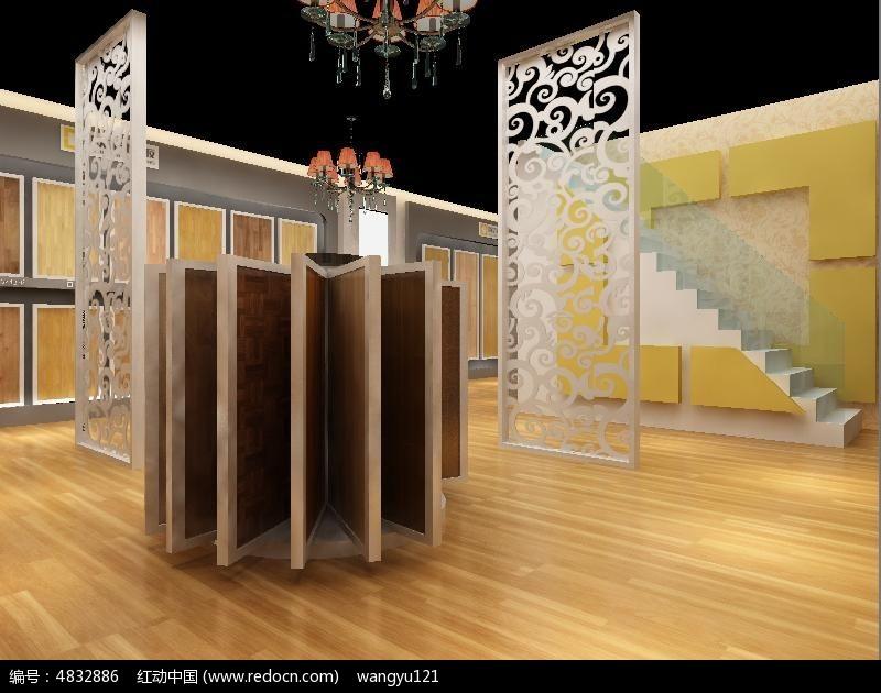 木地板展厅设计模型
