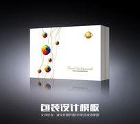 七彩玫瑰化妆品包装(展开图) CDR