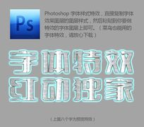闪耀字体样式 PSD