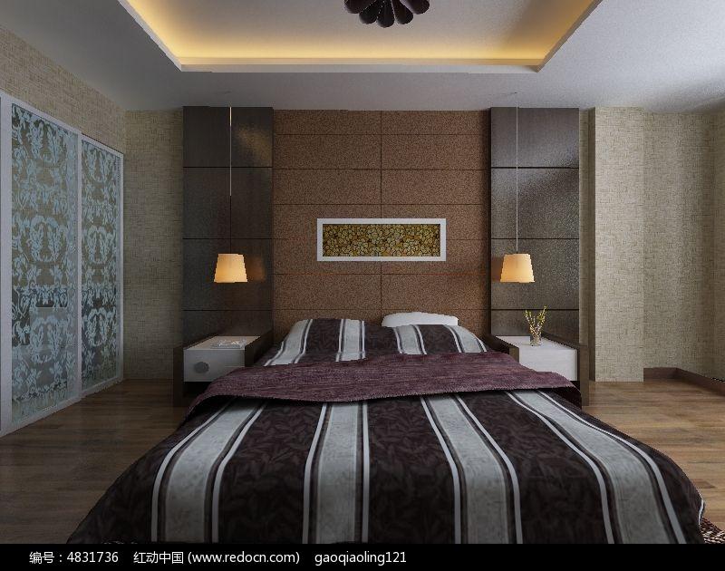 室内精装修卧室效果模型图片