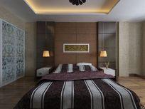 室内精装修卧室效果模型