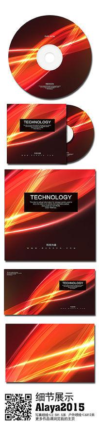 时尚科技线条光盘封面设计
