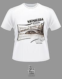 时尚威尼斯主题文化衫
