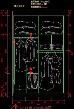小孩房衣柜结构图纸