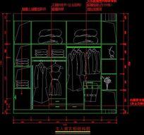 主人房衣柜内部结构设计图纸