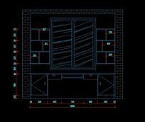 组合书桌柜装修设计图纸 CAD