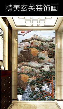 长城风景玄关装饰画