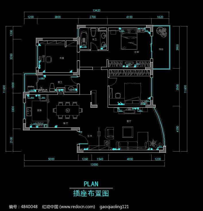 插座精打开图纸设计图_CAD户型图片素材如何扫描图纸装修图片