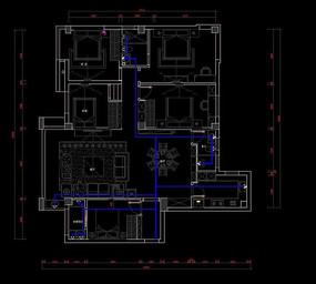 家装户型水路布置图纸