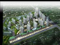 居住区规划设计鸟瞰图 PSD源文件