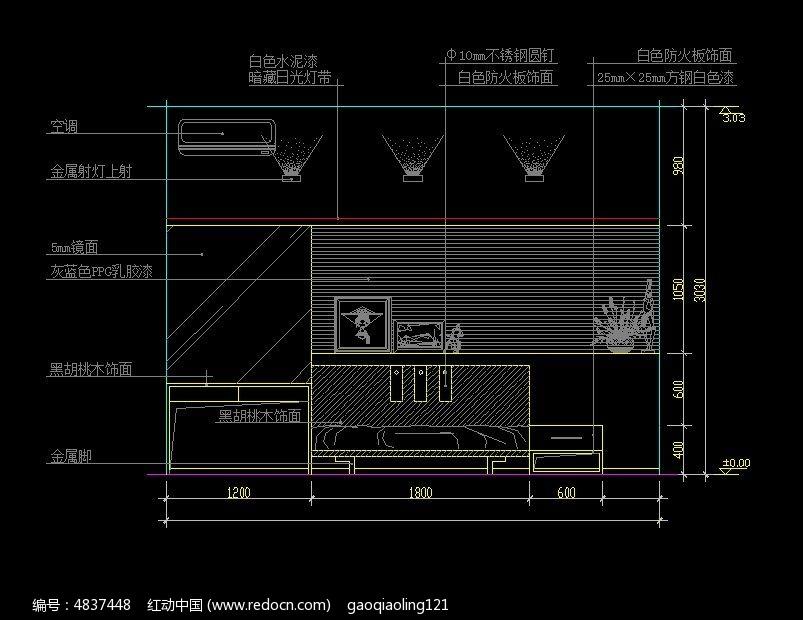 榻榻米卧室设计施工图纸CAD素材下载 室内装修设计图片