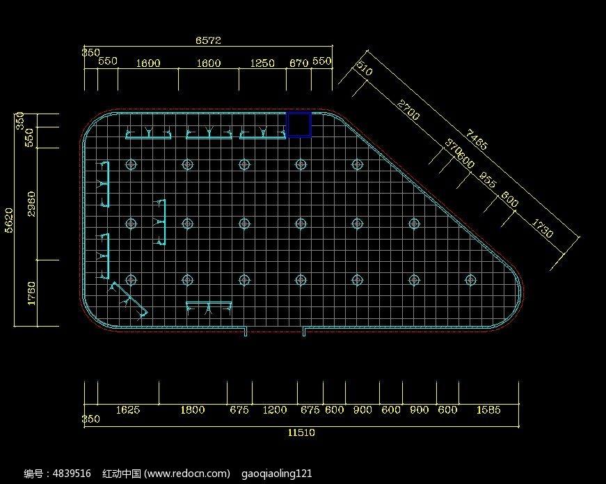 商场顶面造型设计图纸cad素材下载_室内装修设计图片