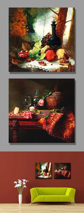 水果静物油画无框装饰画