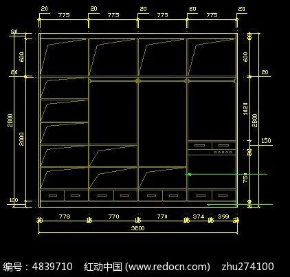 人孔卧室内部设计图_CAD图纸图片素材级不锈钢衣柜a人孔图纸图片