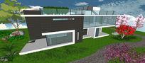 别墅庭园景观设计psd素材 PSD