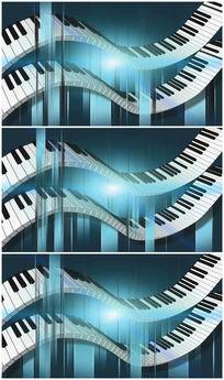 弹钢琴视频素材