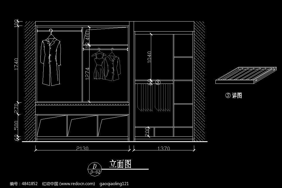 大衣柜身子v衣柜卧室秃图纸尺寸图纸图片