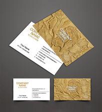 复古装饰公司名片设计
