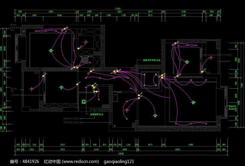 开关线路祥图_CAD图纸图片素材cad子弹图片