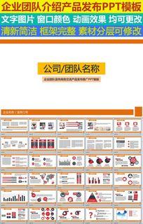 企业团队宣传商务交流产品发布推广PPT模版