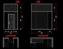别墅主卧室衣柜设计图纸