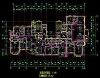 房屋标准层平面图 CAD