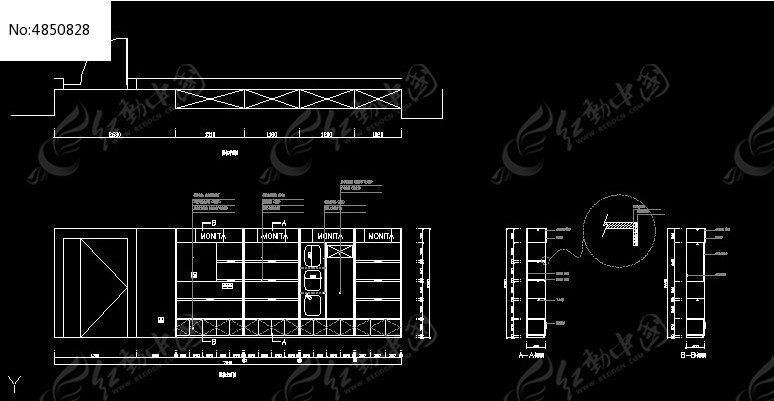 销售部化妆品展柜上海日设建筑设计有限公司图片