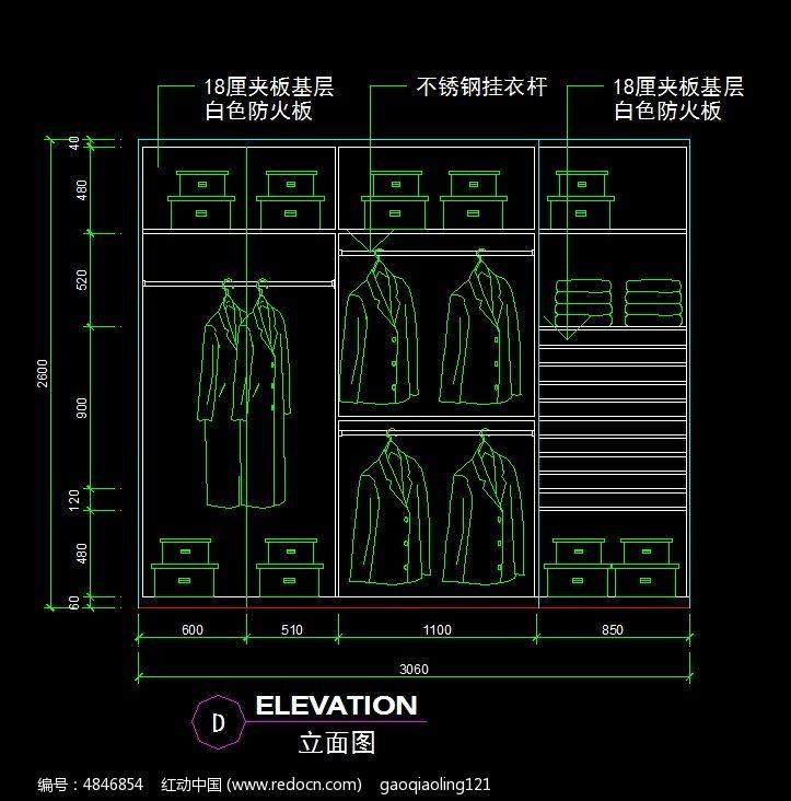 衣柜立面设计图纸