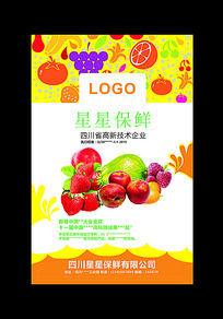 cdr格式水果保鲜包装模板