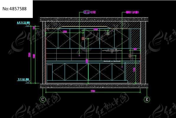 厨房立面施工设计图纸