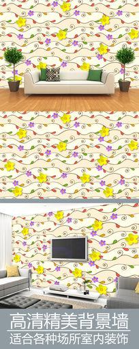 花纹图案电视背景墙