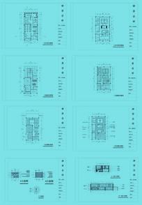 会所餐厅平面图铺装图顶棚图节点大样图全套施工图