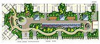 屋顶花园平面图PSD分层素材