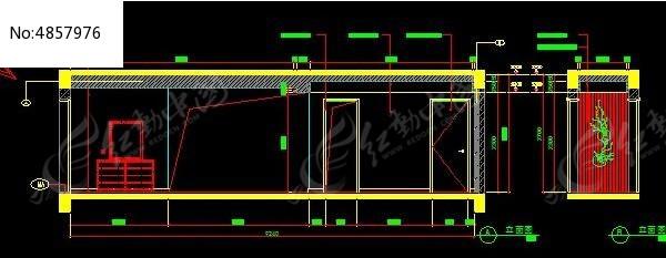 现代角度装修立面图_CAD风格图片素材怎么用cad查看图纸图片