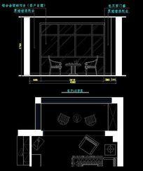 中式客厅装修立面图