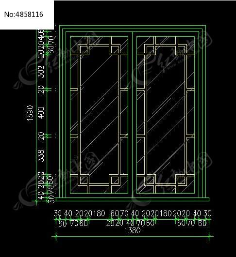 中式推拉门尺寸v尺寸图纸_CAD图纸图片素材cad不能哪些轴标注号有图片