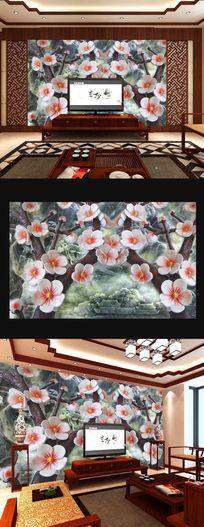 浮雕花瓣立体背景墙