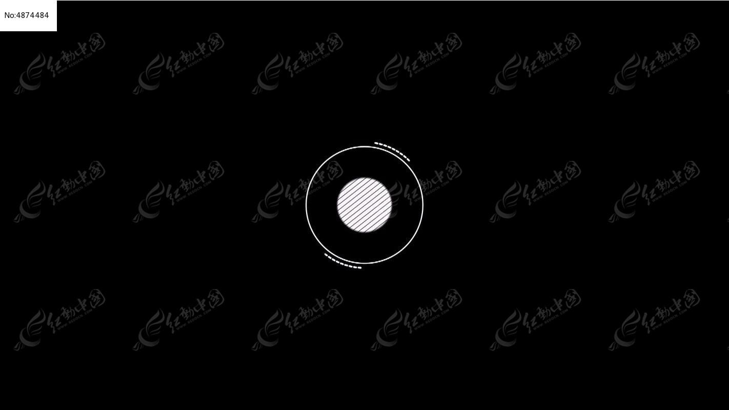 白色实心圆形动态视频素材模版