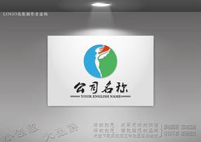 翅膀logo设计 飞人标志设计
