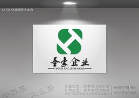 创意H字母标志 S字母logo