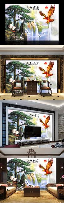 大展宏图中式电视背景墙