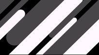 黑白线条动态视频素材模版