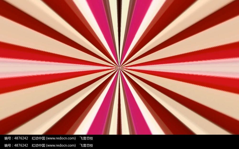 红色线条极速的闪烁