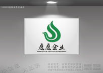 绿色logo 雄伟老鹰标志