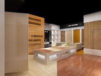 木地板展厅设计模型素材