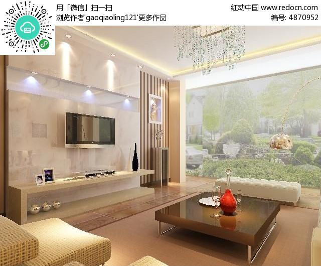 原创设计稿 3d模型库 室内装修 石材造型客厅电视墙装修模型素材  请