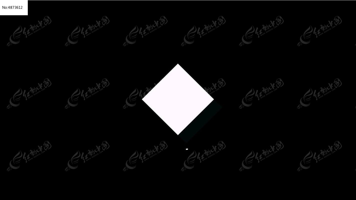实心正方形动态视频素材模版