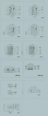 中式餐饮空间CAD施工图