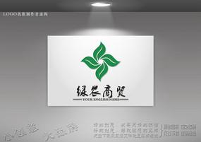茶叶logo 农业科技标志