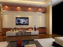 电视背景墙造型设计模型